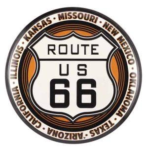 Panneau routier ROUTE US 66