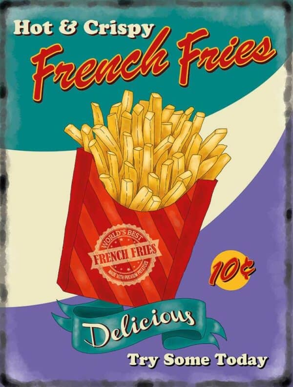 Plaque murale XL – French Fries