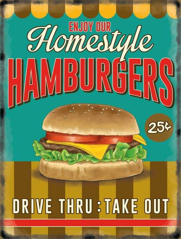 Plaque murale XL – Hamburger