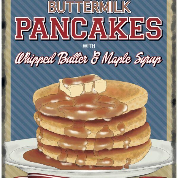 Plaque de restaurant americain Pancakes