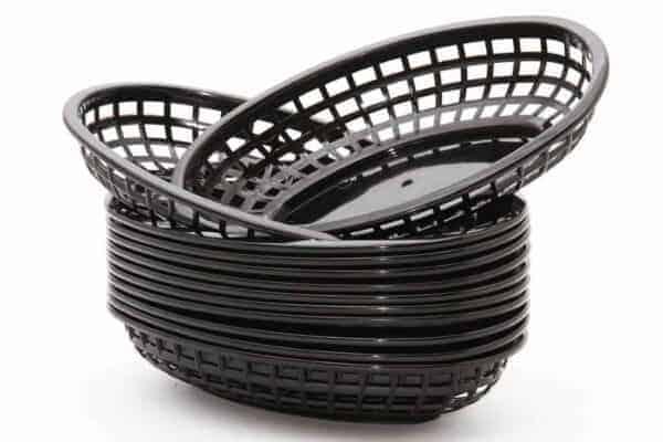 Panier ovale Lot de 12 – Noir