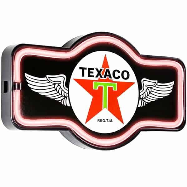 Enseigne neon led decoration americaine murale Texaco Wings