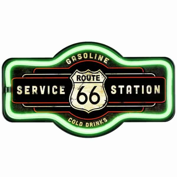 Enseigne neon led decoration americaine murale Route 66