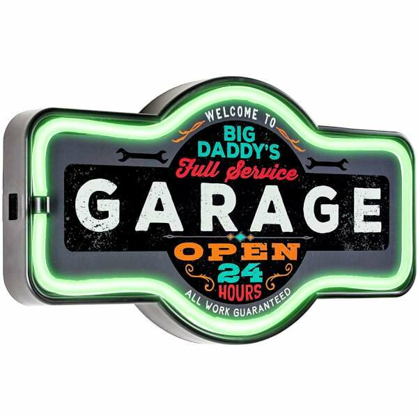 Enseigne neon led decoration americaine murale Garage Service