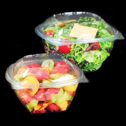 Saladiers en plastique avec couvercles 500 ml – Lot de 75