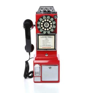 Téléphone de Cabine Payphone Américain 50's