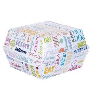 Boîtes à Hamburgers pour vente à emporter en carton