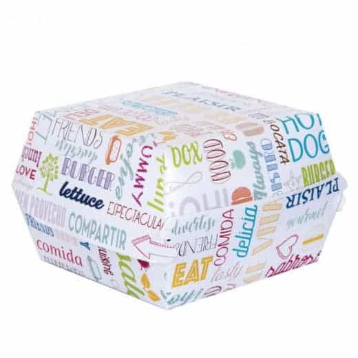 Boîtes pour Hamburgers – Lot de 100 boîtes en carton