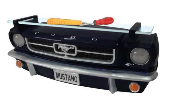 Etagère murale Ford Mustang 1964 1/2 Noire (avec lumières)