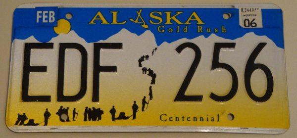 Plaque d'immatriculation américaine – ALASKA