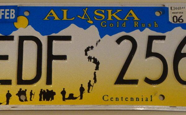 Alaska Plaque d'immatriculation americaine swap meet