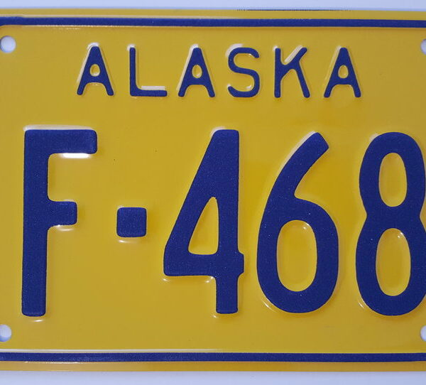 Alaska_A2 Plaque d'immatriculation americaine swap meet