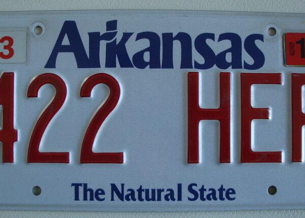 Arkansas Plaque d'immatriculation americaine swap meet