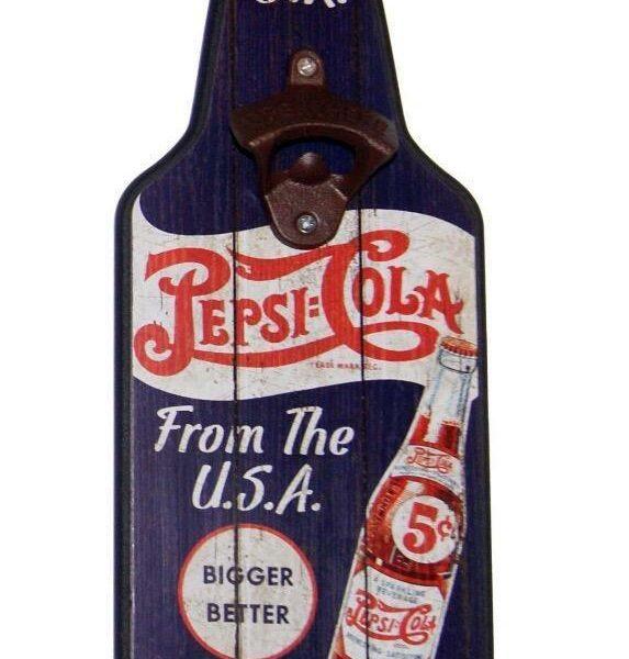 Decapsuleur de bouteille pour décoration americaine Pepsi-Cola