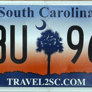Caroline du sud_A1 Plaque d'immatriculation americaine swap meet