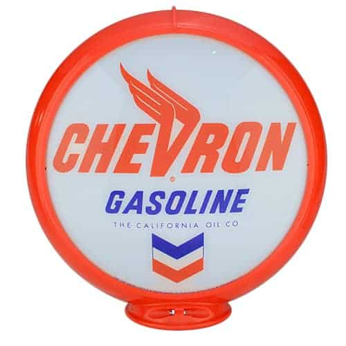 Chevron Gasoline Globe publicitaire de pompe a essence