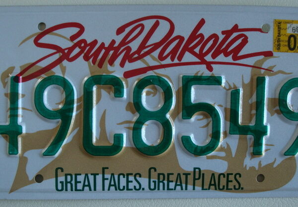 Dakota du sud Plaque d'immatriculation americaine swap meet
