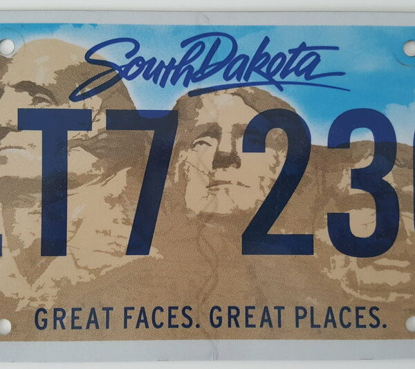 Dakota du sud_A2 Plaque d'immatriculation americaine swap meet