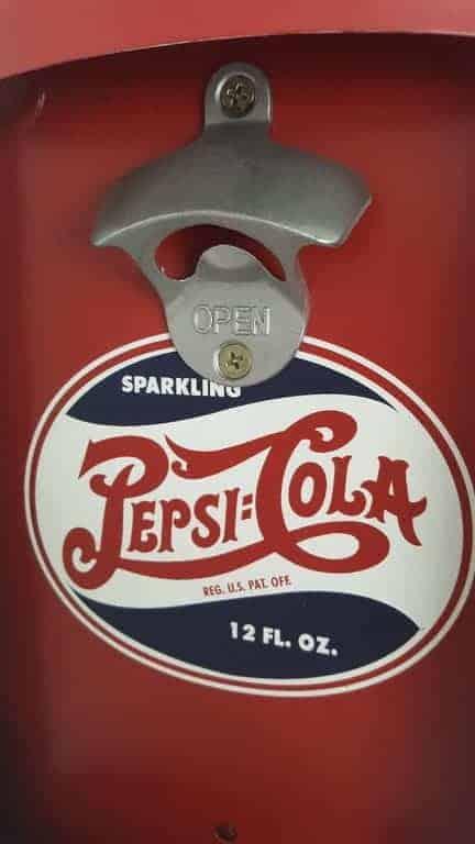 Plaque métal avec décapsuleur Pepsi Vintage