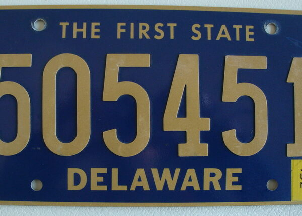 Delaware Plaque d'immatriculation americaine swap meet