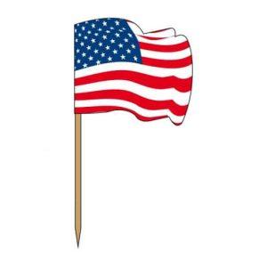 Drapeau americain pour piquer dans les hamburgers des restaurants americainsDrapeau americain pour piquer dans les hamburgers des restaurants americains