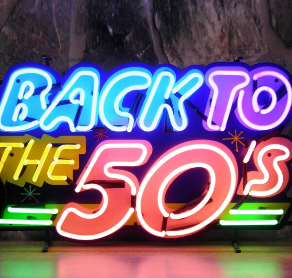 Back to the fifties neon publicitaire en verre