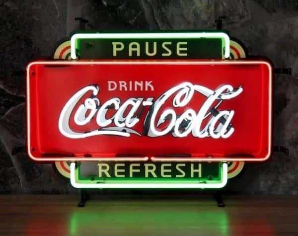 Néon Coca Cola Refresh