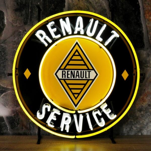 Renault service neon publicitaire en verre