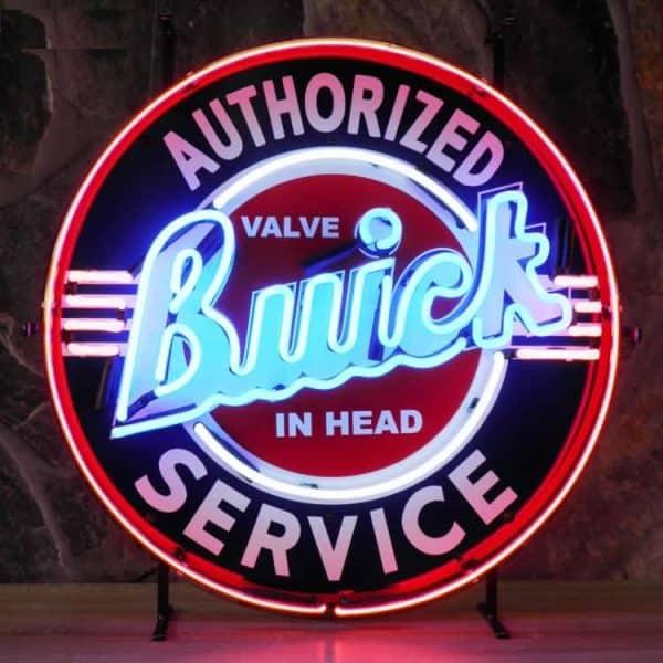 Buick authorized service neon publicitaire en verre