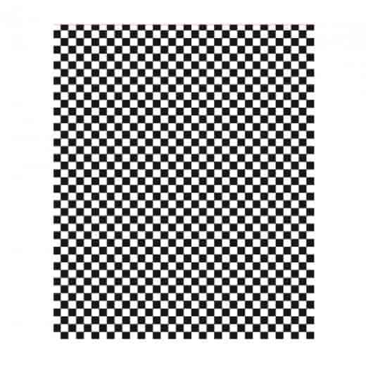 Papier Sulfurisé à Damier Noir et Blanc 1000 feuilles 31x31cm