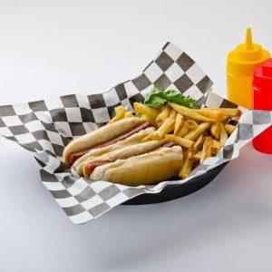Emballages Burger à Damier Noir et Blanc 1000 feuilles_2