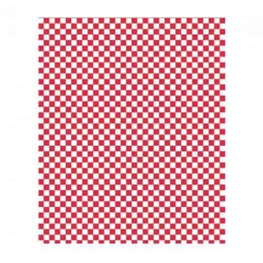 Papier Sulfurisé à Damier Rouge et Blanc 1000 feuilles 31x31cm