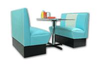 Banquette rétro américaine – Design années 1950 Malibu