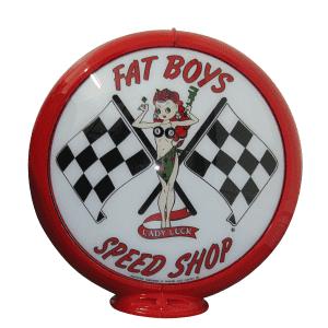Fat Boys Speed Shop Globe publicitaire de pompe a essence
