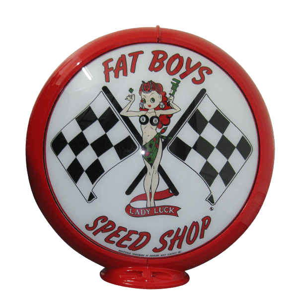 Fat Boys Speed Shop Globe publicitaire de pompe a essence