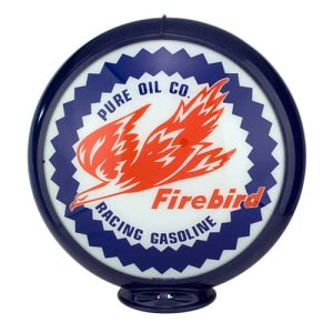 Firebirds Gasoline Globe publicitaire de pompe a essence