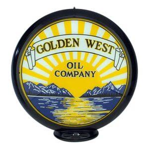 Golden West Oil Globe publicitaire de pompe a essence
