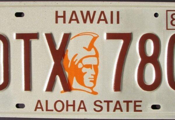 Hawaii_A1 Plaque d'immatriculation americaine swap meet