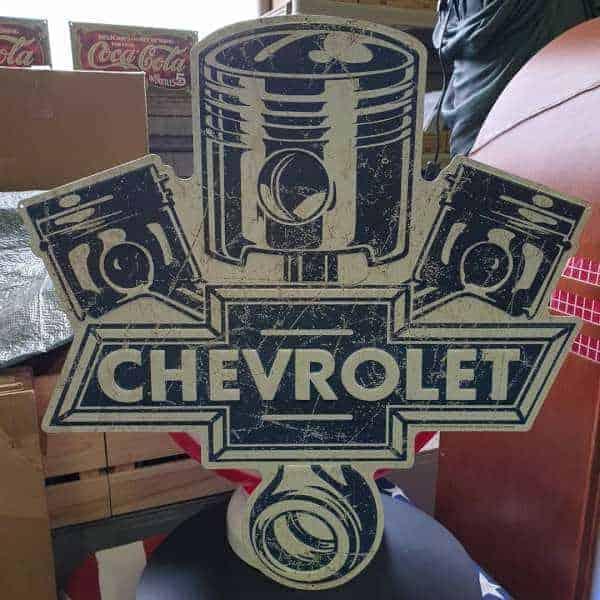Panneau publicitaire Chevrolet Motors