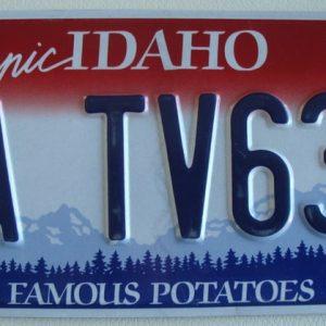 Idaho Plaque d'immatriculation americaine swap meet