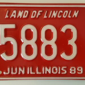 Illinois_A2Red Plaque d'immatriculation americaine swap meet