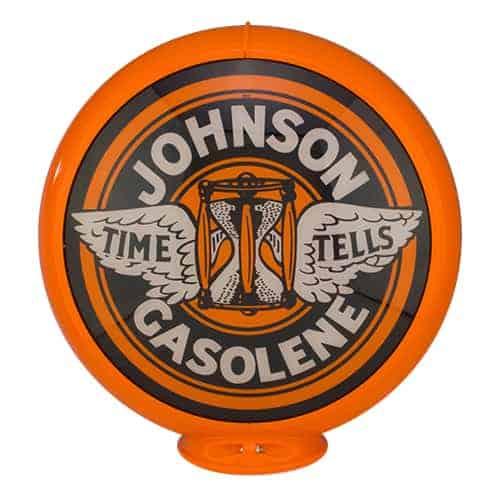 Johnson Gasoline Globe publicitaire de pompe a essence