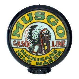 Musgo Globe publicitaire de pompe a essence