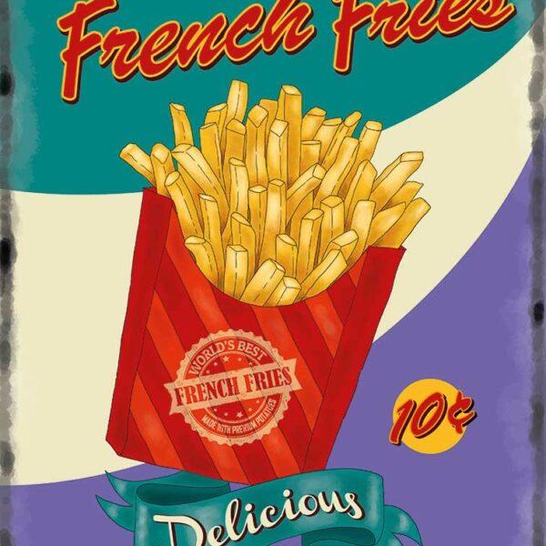 Plaque publicitaire de décoration murale 10085-fries