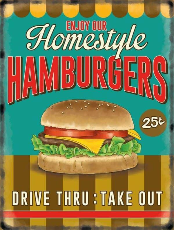 Plaque de décoration murale Burger