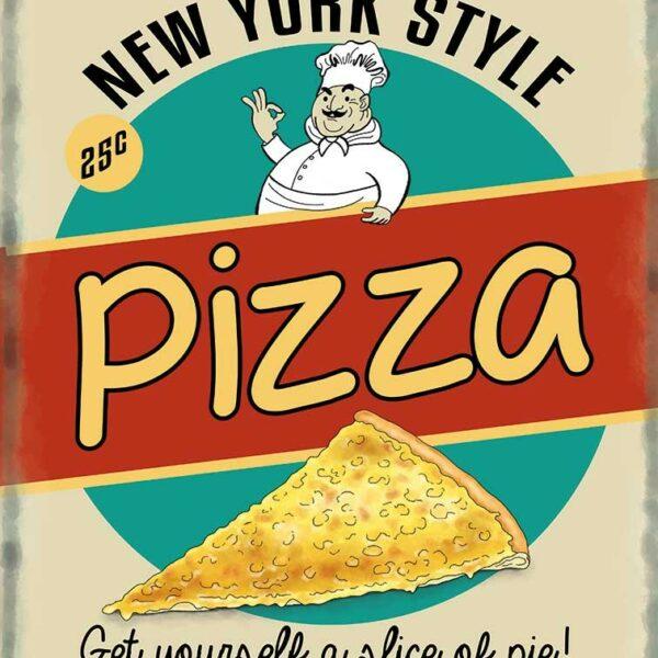 Plaque publicitaire de décoration murale 10088-pizza