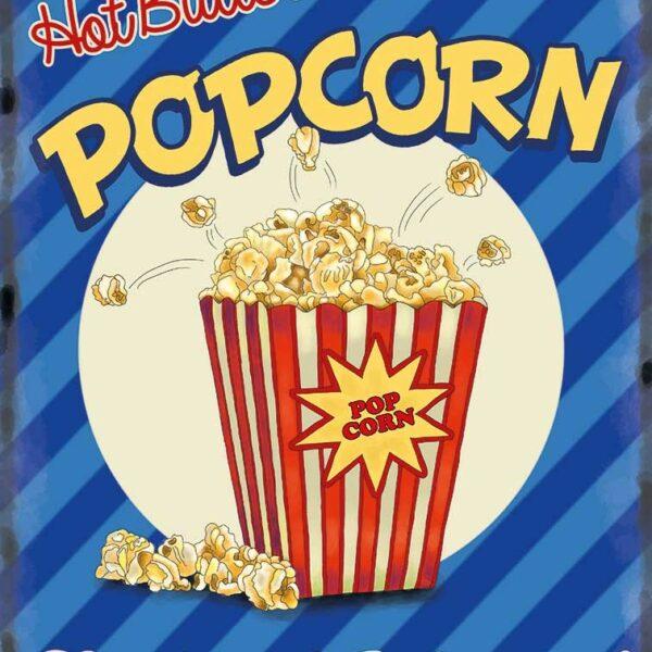 Plaque publicitaire de décoration murale 10089-popcorn