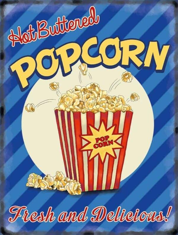 Plaque de décoration murale Popcorn