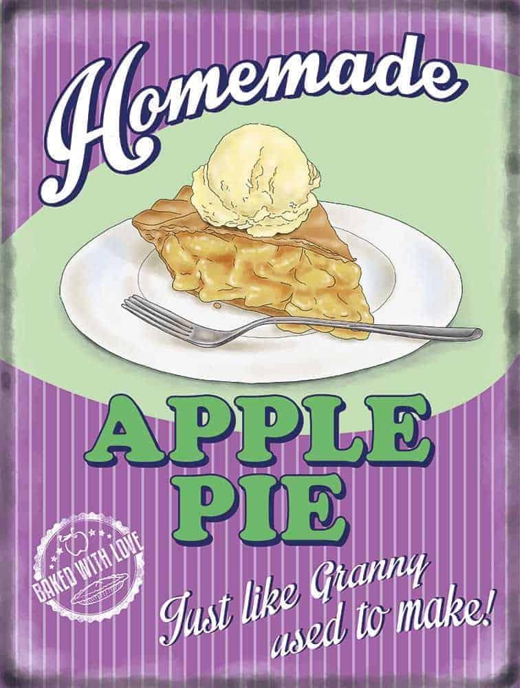 Plaque publicitaire de décoration murale 10090-apple-pie