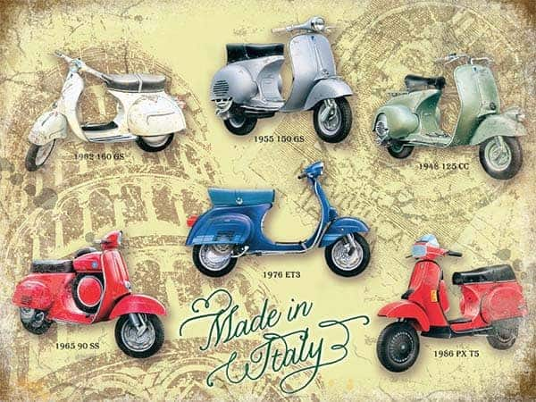 Plaque publicitaire de décoration murale 10951 scooters